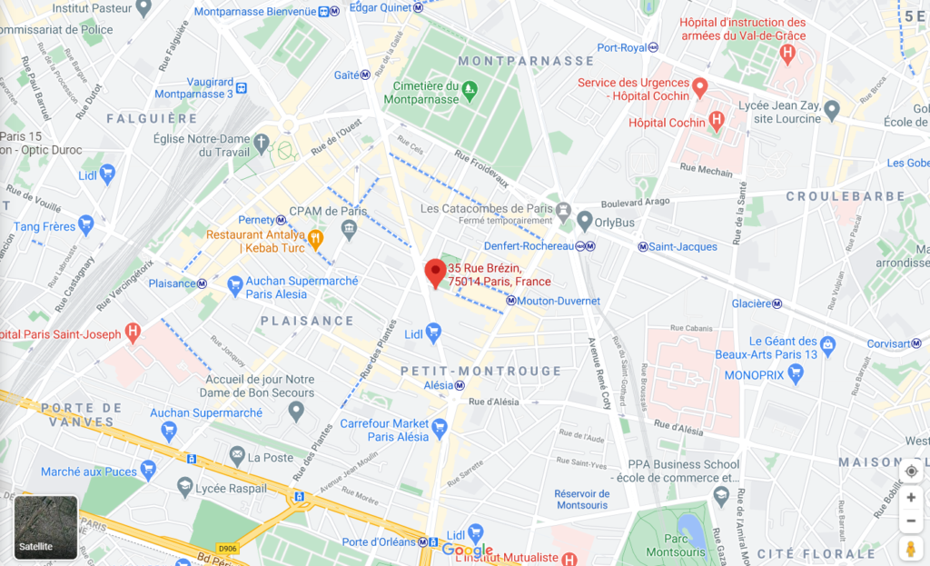 plan boutique cadres paris 35 rue brezin paris 14
